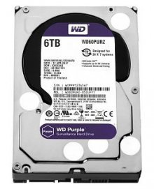 Жесткий диск WD HDD 6000 GB (6 TB) SATA-III Purple (WD60PURZ)